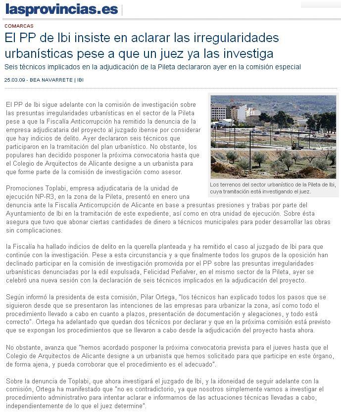 Las Provincias 25-03-09