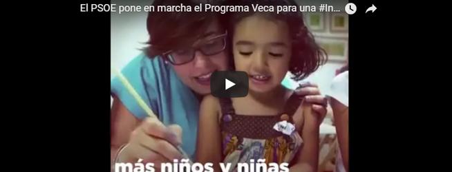 El PSOE pone en marcha el Programa Veca para una #InfanciaSinPobreza