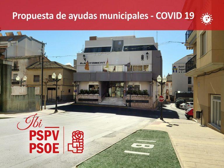 El Grupo Socialista de Ibi propone una batería de ayudas municipales para paliar las consecuencias de la crisis económica del COVID-19