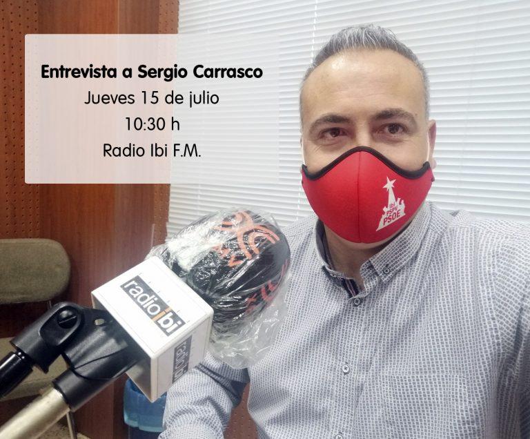 Entrevista a Sergio Carrasco en Radio Ibi – 15/07/2021